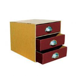 Συρταριερα Α4 με 3 Χρωματιστα Συρταρια & Μεταλλικές Λαβες NEXT 04034