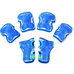 Σετ Παιδικά Προστατευτικά για Rollers Micro Medium MSA-PR Μπλε