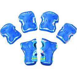 Σετ Παιδικά Προστατευτικά για Rollers Micro Large MSA-PR Μπλε