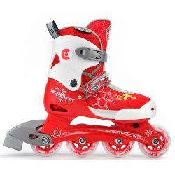 Αυξομειούμενα Rollers Πατίνια ZETA Micro Κόκκινο