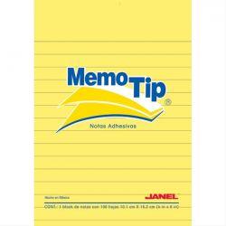 Notes Sticky 102x152mm 100 Φυλλα Κιτρινο Ριγε Memotip