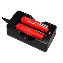 Διπλός φορτιστής πρίζας για μπαταρίες 18650 OEM 53322