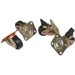 Σετ 4 Τροχων Για Επιδαπέδιες καμπίνες LN-ZMN-TKR-5525-XX ACR.0093 LANDE