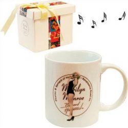 Κουπα Πορσελανης Με Μουσικο Κουτι Marilyn 6947-0158