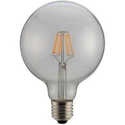 Λαμπα Led Γλομπο G125 Filament 8W Ε27 6500K 220-240V Dimmable Clear 147-81426