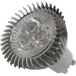 LED Spot GU10 3x1 Watt Λευκό Ημέρας GloboStar 77451