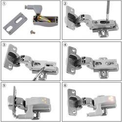 Φωτιστικό Ντουλάπας LED για Μεντεσέ με Διακόπτη On/Off Κουμπωτό Θερμό Λευκό GloboStar 07031