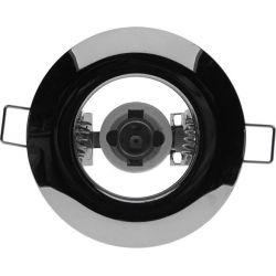 Χωνευτή Στρογγυλή Βάση Μπετού R50 E14 Φ92 Χρώμιο GloboStar 97003