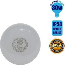 Λαμπτήρας E27 High Bay LED 30 Watt IP54 Θερμό Λευκό 3000k GloboStar 78001