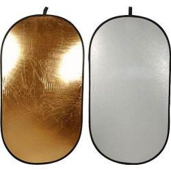 Οβάλ ανακλαστήρας 180x120cm ασημί/χρυσό LA 7234 Lastolite