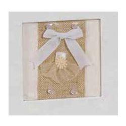 Αλμπουμ Γαμου Ριζοχαρτο Craft Paper Τετράγωνο παράθυρο & φιόγκος  35X35Cm 50 Φύλλων 12601