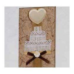 Αλμπουμ Γαμου Ριζοχαρτο Craft Paper Ορθογώνιο Παράθυρο & Καρδιά 35X35Cm 50 Φύλλων 12601