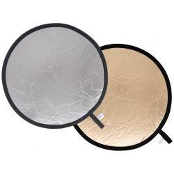 Στρογγυλός ανακλαστήρας 120cm ασημί/ριγέ ασημί-χρυσό LA 4836 Lastolite