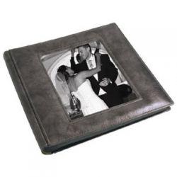 Αλμπουμ Γαμου Δερματινη Ριζοχαρτο Silver 35X35 Cm 50 Μαύρα Φύλλα 12420