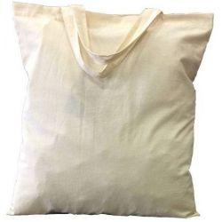 304 Τσάντα Αγοράς Βαμβακερή 38χ42 Εκ. Με Κοντά Χερούλια Μπεζ