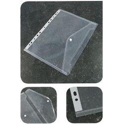 Φάκελος με κουμπί που κλασάρεται διάφανος. Α4. 180mic. Next 21879