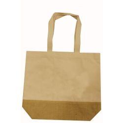 Τσάντα από καμβά και σκληρή βάση από λινάτσα Υ35x41x12εκ. Next 29982