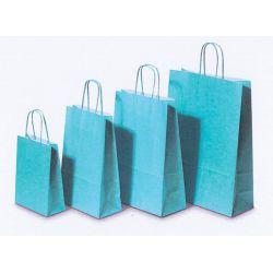 Χάρτινη τσάντα Υ41x32x12εκ. γαλάζια με στρογγυλό χερούλι 20 τεμάχια Next 31734