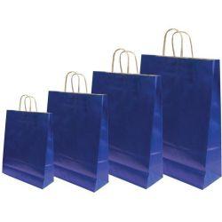 Χάρτινη τσάντα Υ41x32x12εκ. σκ.μπλε με στρογγυλό χερούλι 20 τεμάχια Next 31728