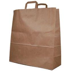 Χάρτινη τσάντα Υ48x45x17εκ. καφέ με πλακέ χερούλι 20 τεμάχια Next 31754