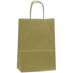Χάρτινη τσάντα Υ22x18x8εκ. καφέ με στρογγυλό χερούλι 20 τεμάχια Next 31700