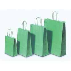 Χάρτινη τσάντα Υ22x18x8εκ. λαχανί με στρογγυλό χερούλι 20 τεμάχια Next 31704
