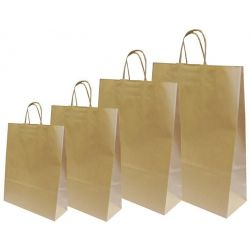 Χάρτινη τσάντα Υ41x32x12εκ. καφέ με στρογγυλό χερούλι 20 τεμάχια Next 31725