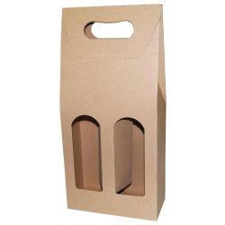 Κουτί κρασιού οικολογικό για 2 μπουκάλια Υ36.5x17x8εκ. 10 τεμάχια Next 23373