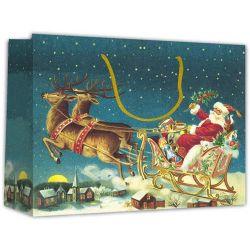 Χάρτινη τσάντα Υ40x46x14 Άγιος Βασίλης 12 τεμάχια Next 27233
