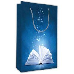 Χάρτινη τσάντα Υ28x18x6 Μπλε βιβλίο 12 τεμάχια Next 26707