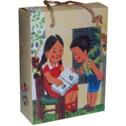 Χάρτινη τσάντα κουτί Υ22x16.5x6.5 Παλιό αναγνωστικό 12 τεμάχια Next 26712