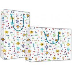 Χάρτινη τσάντα Υ26x36x12 Γράμματα - αριθμοί 12 τεμάχια Next 27303