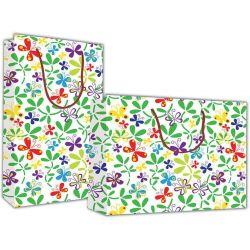 Χάρτινη τσάντα Υ24x23x10 Πολύχρωμες πεταλούδες 12 τεμάχια Next 27321