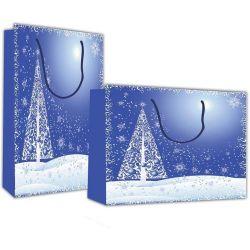 Χάρτινη τσάντα Υ24x23x10 Χριστουγεννιάτικο τοπίο 12 τεμάχια Next 27389