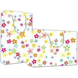 Χάρτινη τσάντα Υ24x23x10 Λουλούδια 12 τεμάχια Next 27207