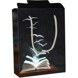 Χάρτινη τσάντα κουτί Υ22x16.5x6.5 Μαύρο βιβλίο 12 τεμάχια Next 26706