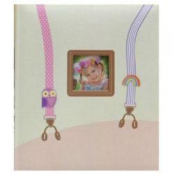 Αλμπουμ με ΘήκεΠαιδικογια 100 Φωτογραφίες13Χ18cm ΡΟΖ