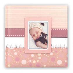 Αλμπουμ Βάπτισης CINZIA 31X31cm30 φύλλα Ροζ
