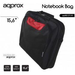 """Τσαντα Nοtεbook 15.6"""" Μαυρη/Κοκκινη NBCP15BR APPROX"""