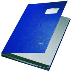Βιβλιο Υπογραφων 10 Θεσεων Pp Cover Leitz Μπλε