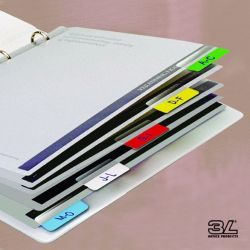 Καβαλαρηδες Πλαστικοι Index Tabs Λευκοι 2.5cm 72 Τεμαχια 3l