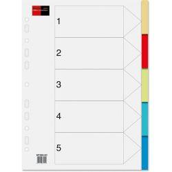 Διαχωριστικα Σετ 5 Θεματα Πλαστικα Χρωματιστα Black-red