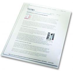 Ζελατινες L Διαφανες Pvc Α4 0.15μμ Ανοιγμα Πανω & Δεξια Συσκ 100 τμχ