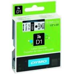 Ταινια Dymo D1 12mmx5.5m Polyester Μαυρη Εκτυπωση/λευκη Ταινια