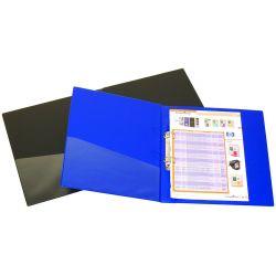 Ντοσιε 2 Κρικων Pvc Επενδεδυμενο Ραχη 4cm Για 240 Φυλλα Α4 Μπλε
