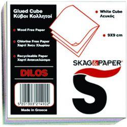 Κυβος Κολλητος Skag Χρωματιστο Χαρτι 90x90mm Dilos