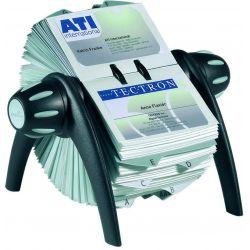 Θηκη Business Cards Περιστρεφομενη Μαυρη 400 Καρτων Durable