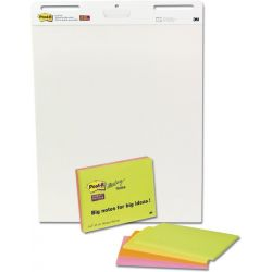 Πινακας Σεμιναριων Post It Σε Μπλοκ Λευκα 3μ 30 Φυλλα 63.5x74.4cm 2 Τεμαχια + Δωρο Meeting Notes 6445