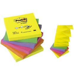 Post It Z-notes Νεον Φωσφοριζε Χρωματιστα Rainbow 12τεμ R330-nr 3μ