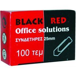 Συνδετηρες 25μμ Νο2/100 Τεμαχια Black-red Οικονομικη Λυση